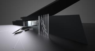 'Prima' installation by Zaha Hadid for Swarkovski at the Vitra Campus