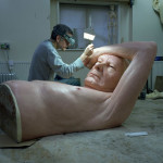 Sculptor Ron Mueck's solo exhibition at Fondation Cartier, Paris