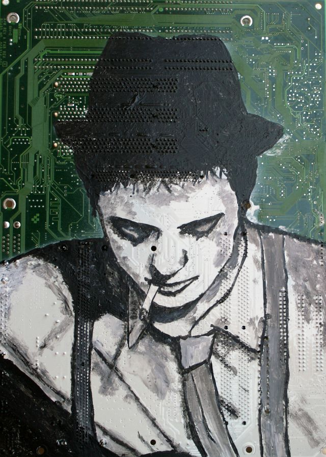 Paintings on computer hardware by Andrea Boriani