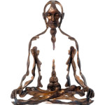 Bronze Figures Use Negative Space to Convey Spiritual Energy