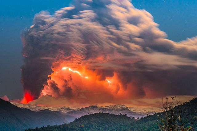 Volcano imagery by Francisco Negroni