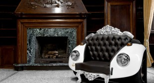 Mixing Baroque Elements and Car Art: Beetle Armchair