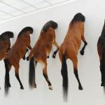 Maurizio Cattelan's 5 horses at Fondation Beyeler