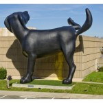 'Bad dog' sculpture gets attention, but no biscuit