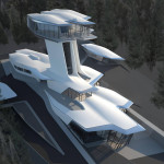 Zaha Hadid designs spaceship house for Naomi Campbell